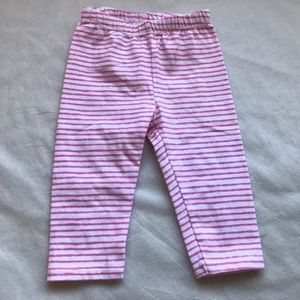 JUST ONE YOU by CARTERS pink&white striped pants